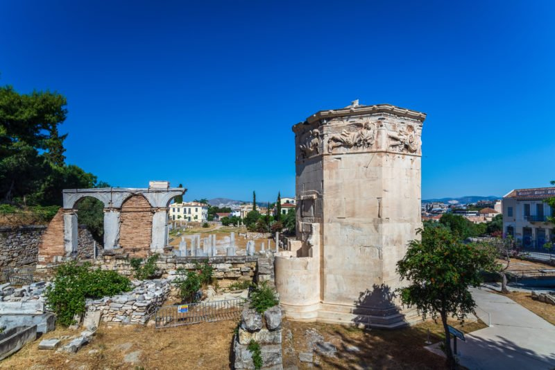 Stop At The Tower Of Winds On The Athens E-bike Tour