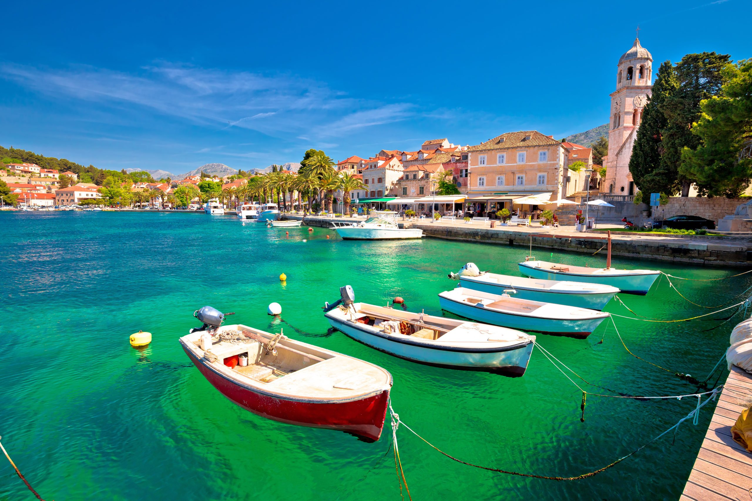 Take A Walk At The Beautiful Waterfront Of Catvat During The Dubrovnik Highlights & Cavtat Shore Excursion