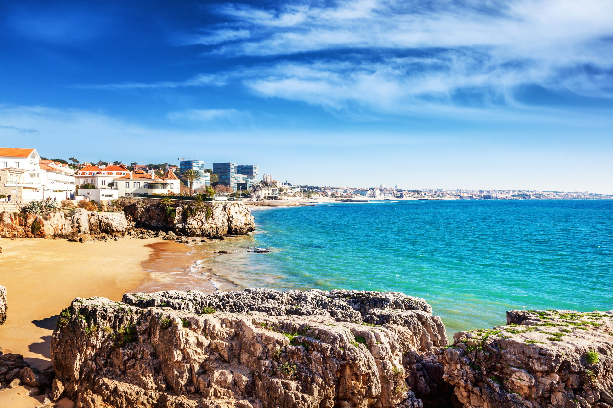 Take In The Marvelous Views Of The Coastline In Cascais On The Sintra, Pena Palace, Cascais & Estoril Half Day Tour From Lisbon