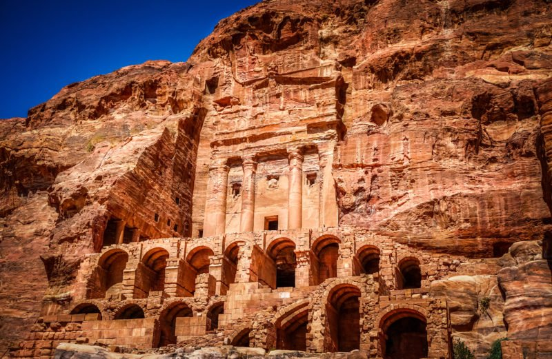 Visit The Tomb Sites On Petra On The Highlights Of Jordan 3 Day Tour From Amman