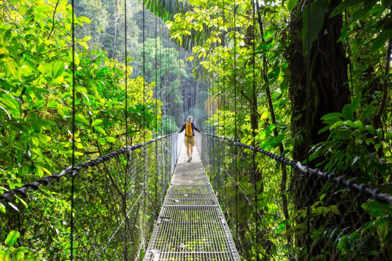 Walk Over The Hanging Bridges On The 9 Day Package Tour - Arenal - Monteverde- Manuel Antonio