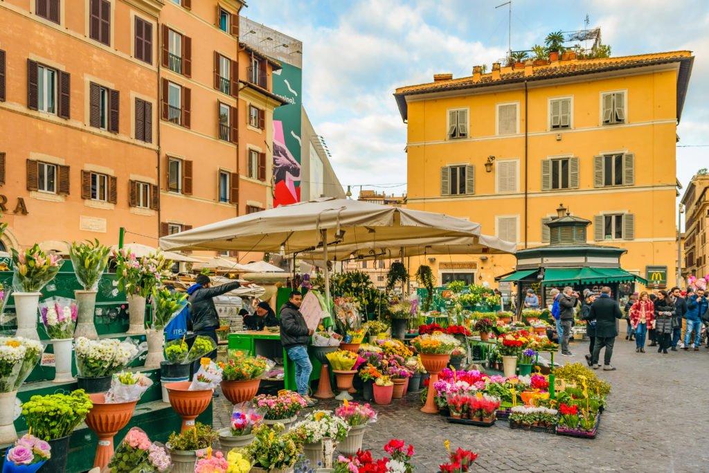 2 days in rome campo de fiori