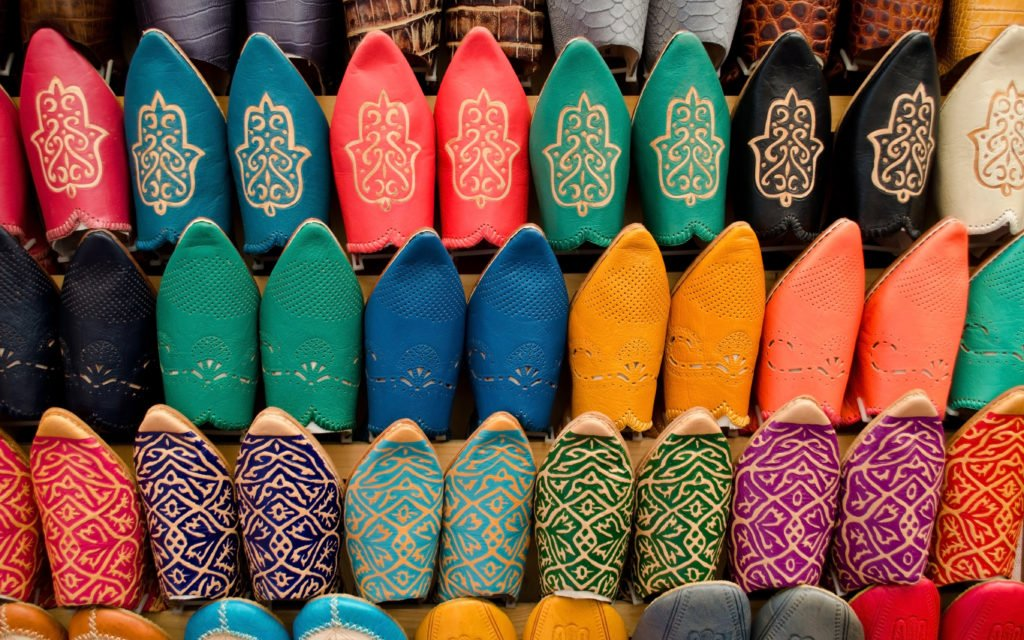 Leather shoes morocco