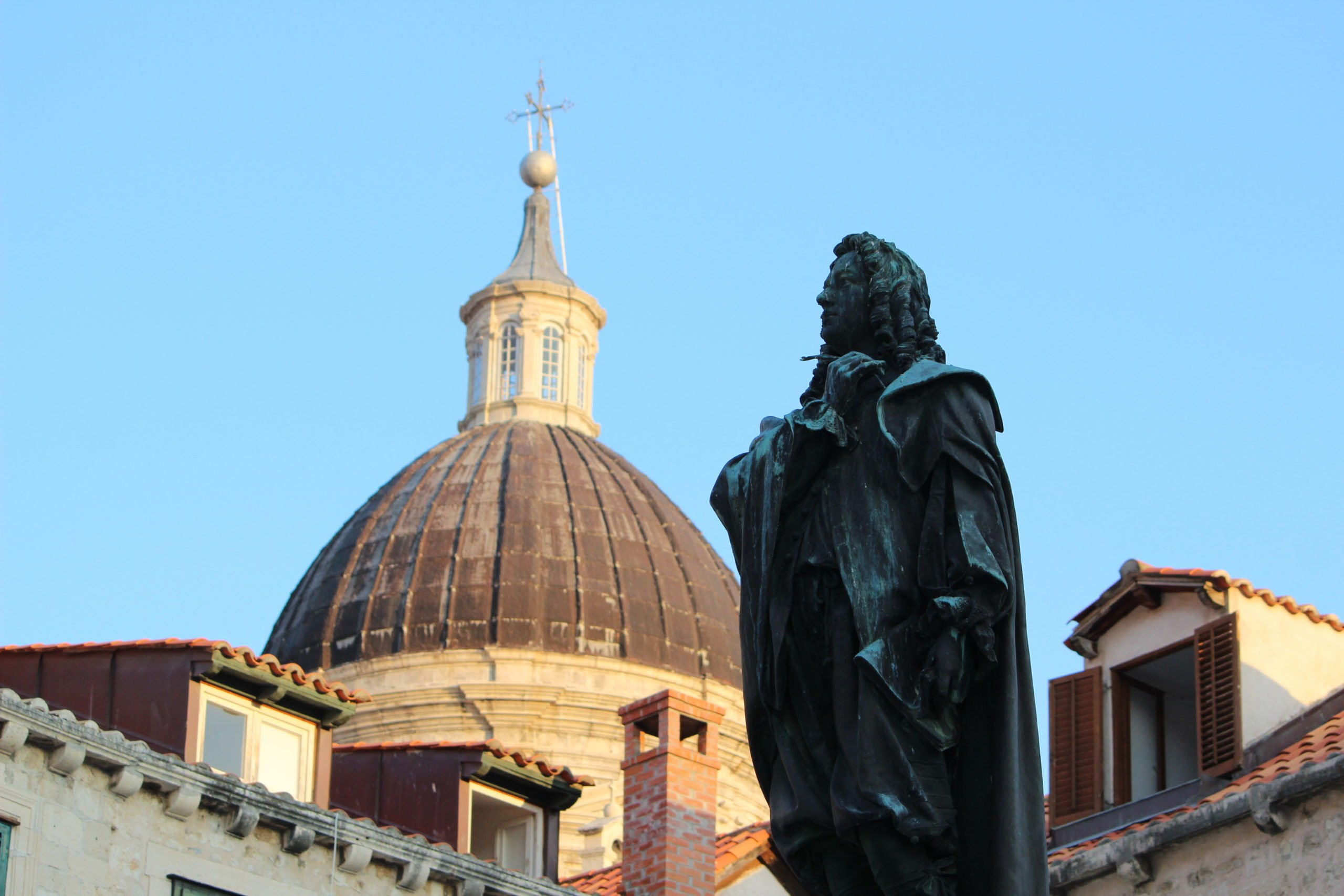 Stop At The Statue Of Poet Poet Ivan Gundulic During The Dubrovnik Highlights & Cavtat Shore Excursion At Dubrovnik Port