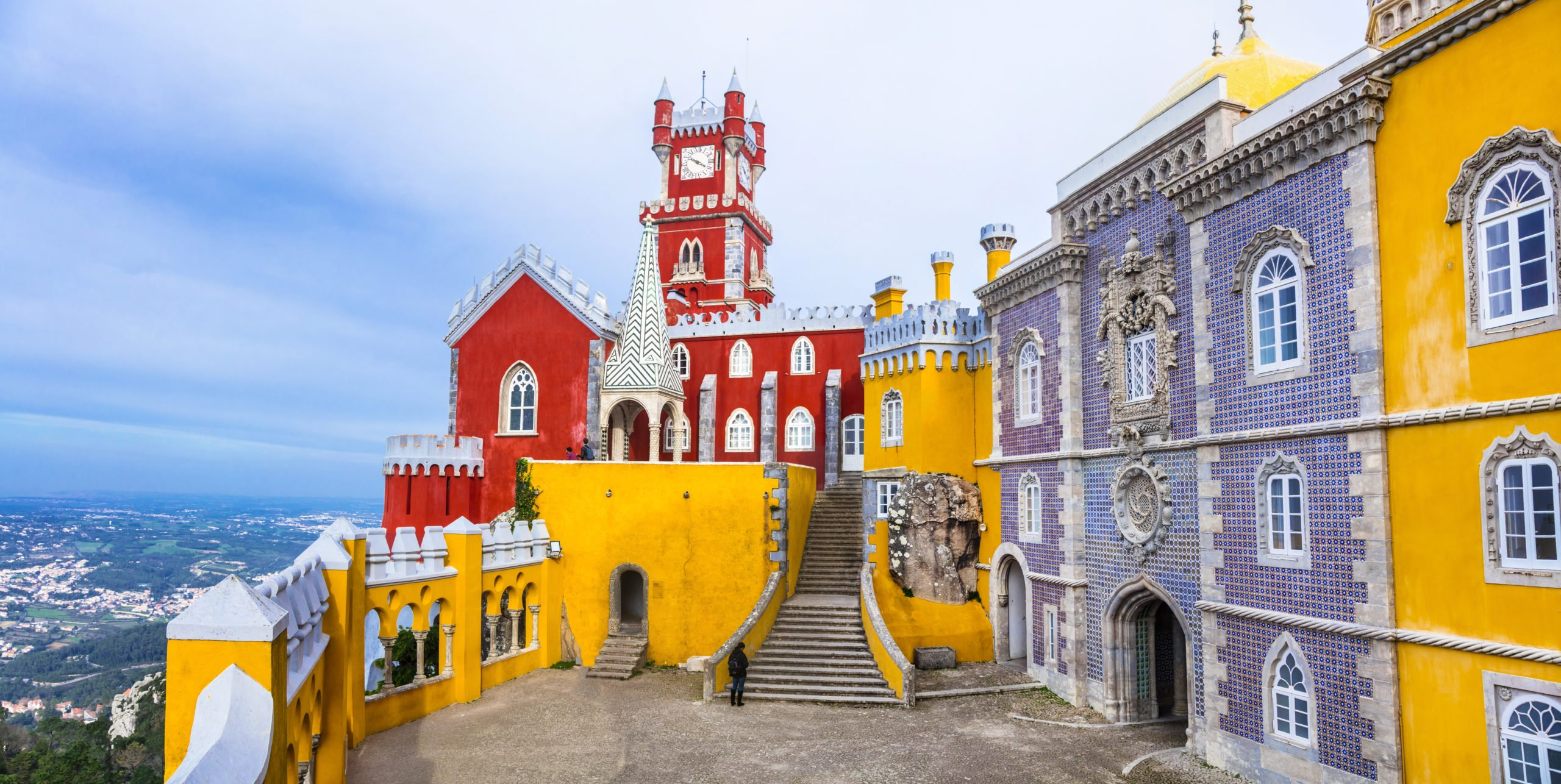 Admire The Colorful Pena Palace On The Highlights Of Portugal 11 Day Package Tour