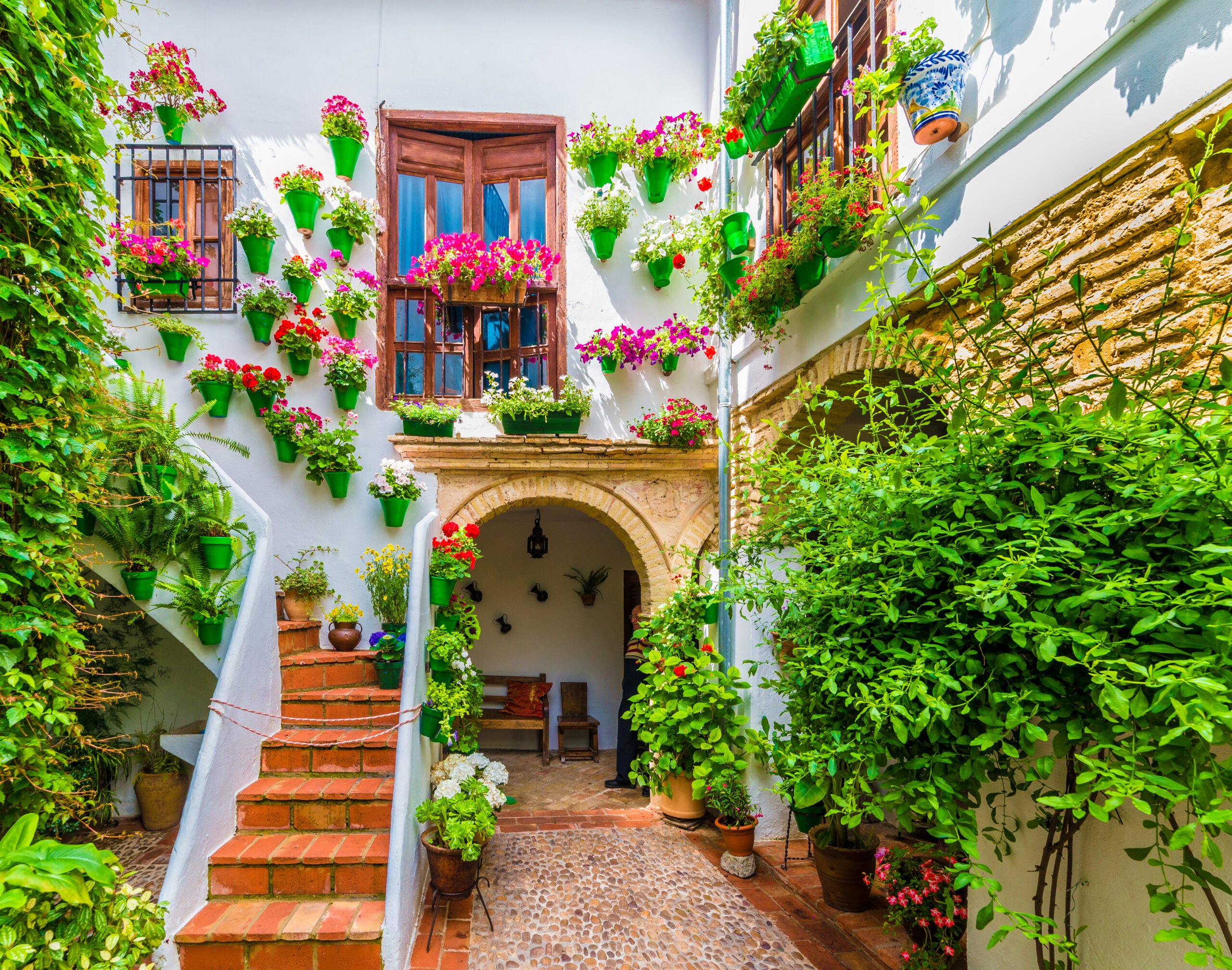 Admire The Traditional Flower Houses During The Cordoba Tour From Granada