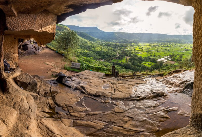 Appreciate A Splendid Specimen Of A Cave With Wooden Architecture In Our Karla And Bhaja Caves Tour