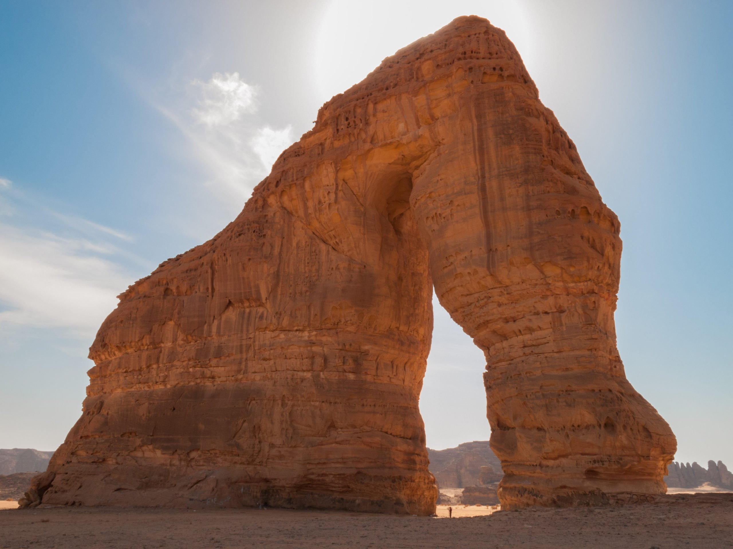 Discover The Famous Elephant Of Madain Saleh During The 13 Day Highlights Of Israel, Saudi Arabia & Jordan Package Tour