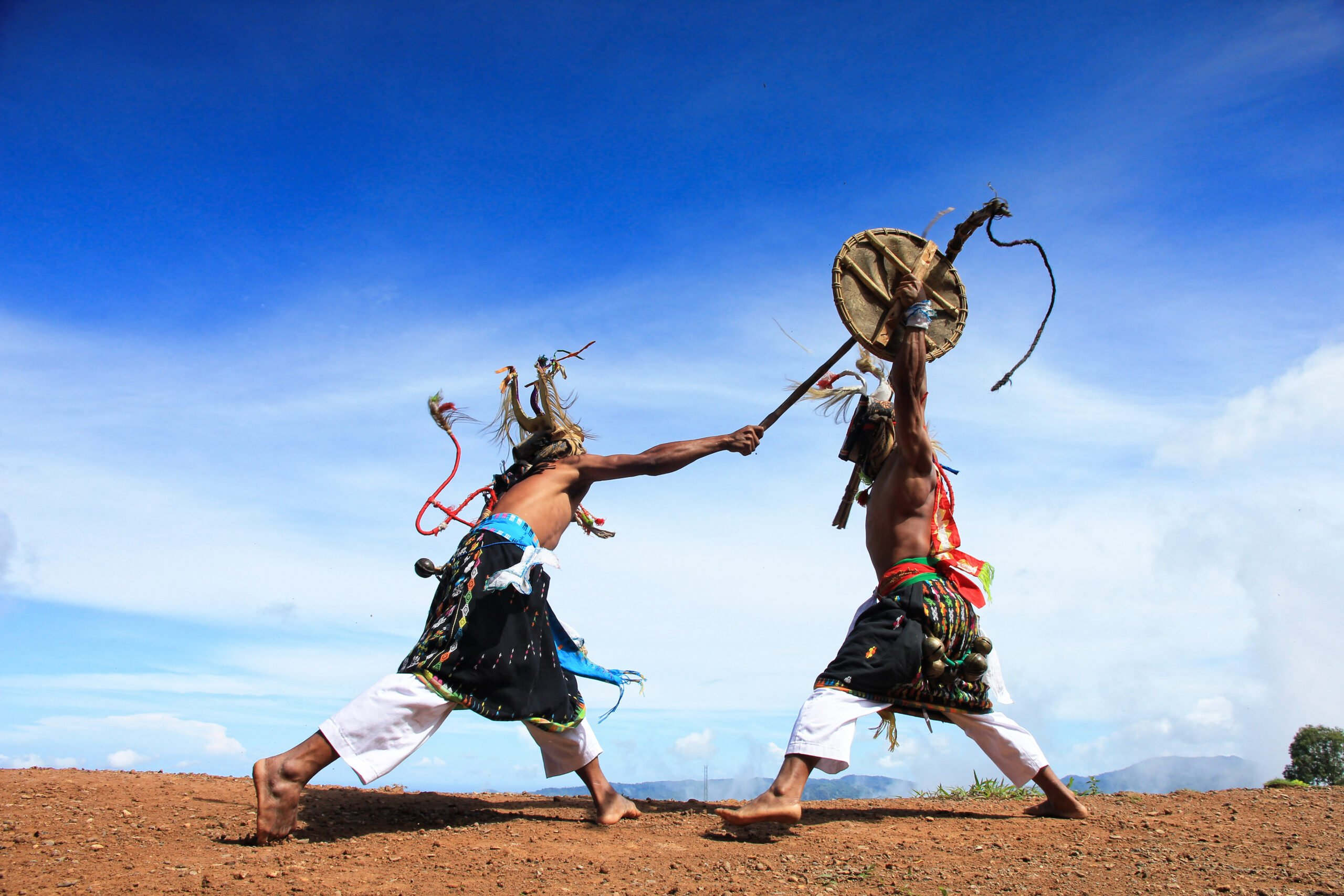 Enjoy A Performance Of The Traditional Caci Dance During The Flores Cultural Tour From Labuan Bajo