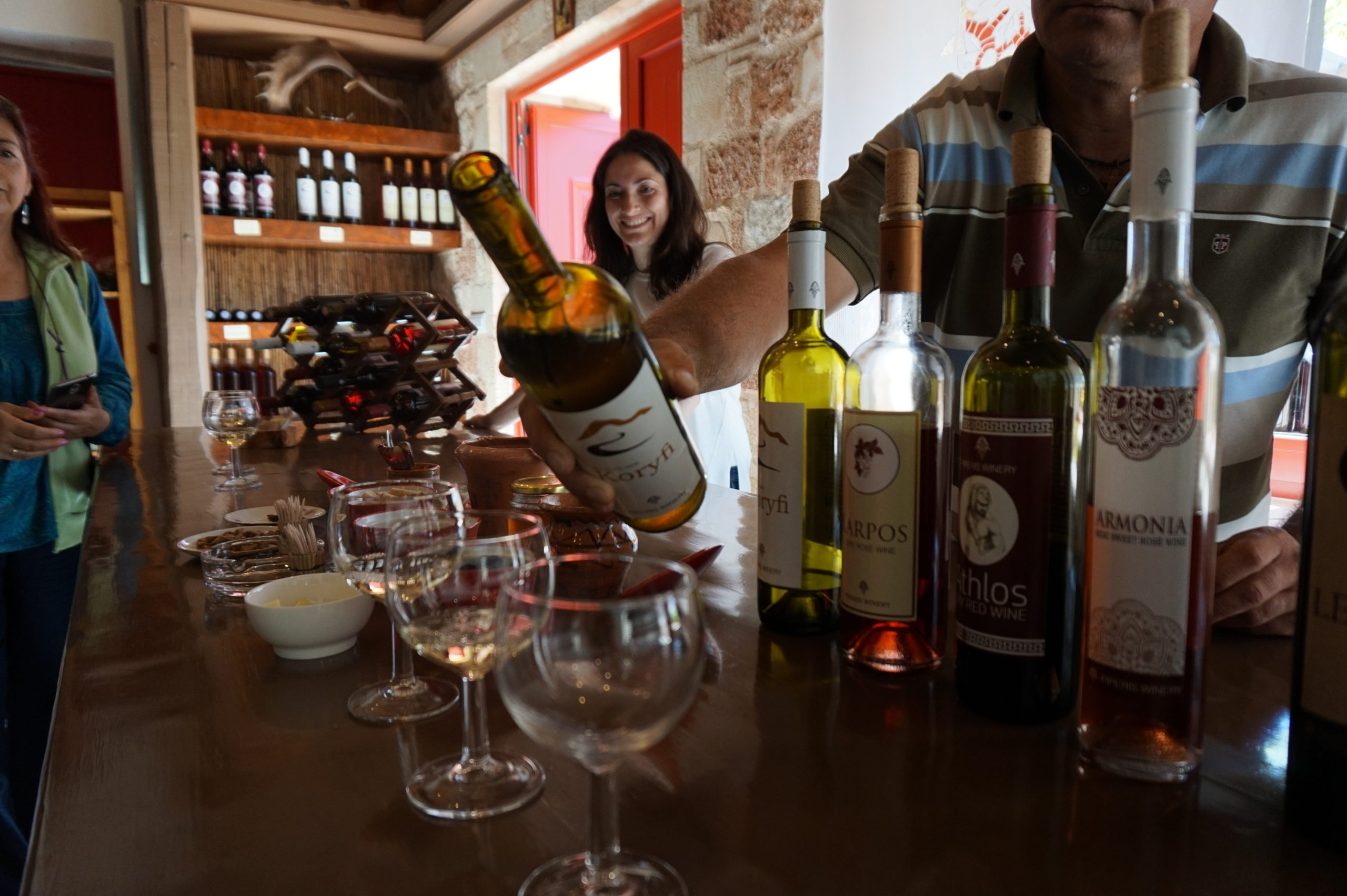 Enjoy A Wine Tasting In A Small Local Winery In Our Taste Of Rhodes Tour