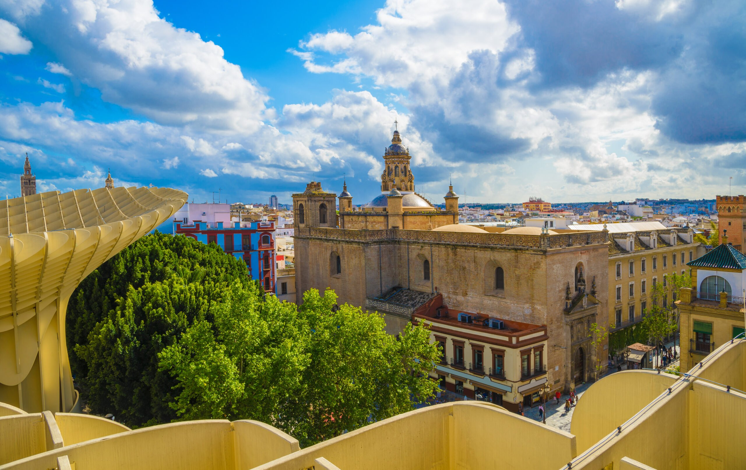 Enjoy The Views From The Mushroom On The Seville Rooftop Walking Tour