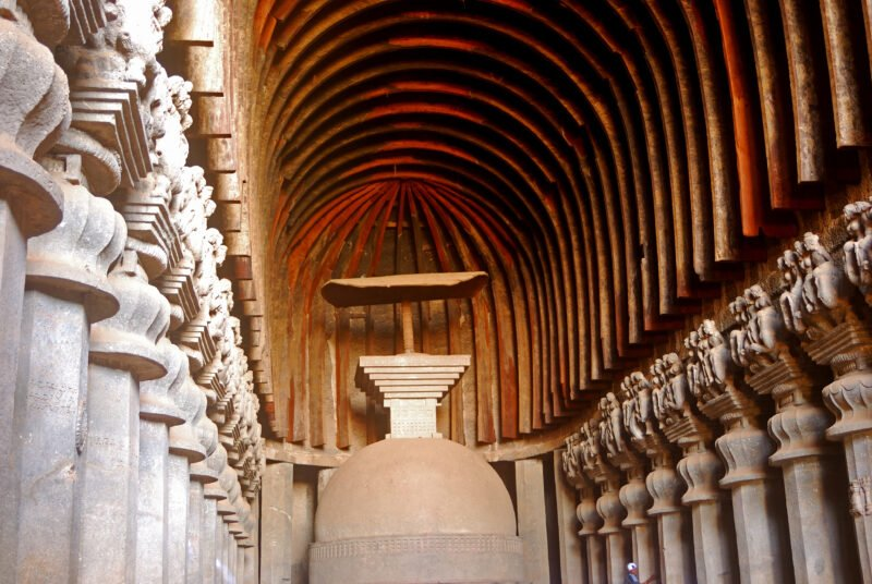 Explore Magnificent Monasteries Up In The Hill, Prayer Halls, Exquisite Sculptures Carved On Rocks In Our Karla & Bhaja Caves Tour