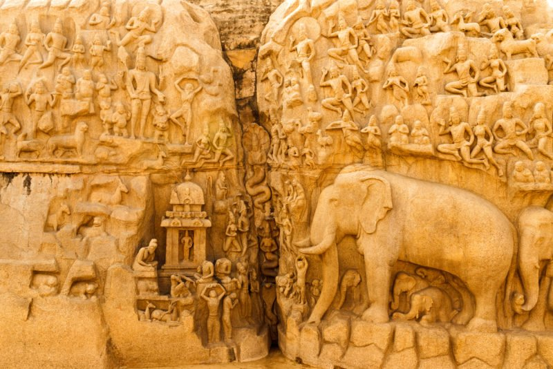 Explore The Asia's Largest Bas-relief Structure At Arjuna's Penance In Our World Heritage Site Of Mahabalipuram