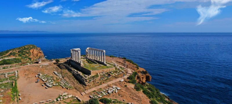 Explorethe Ancient Ruins Of Cape Sounio On The Sea Kayak Tour From Athens