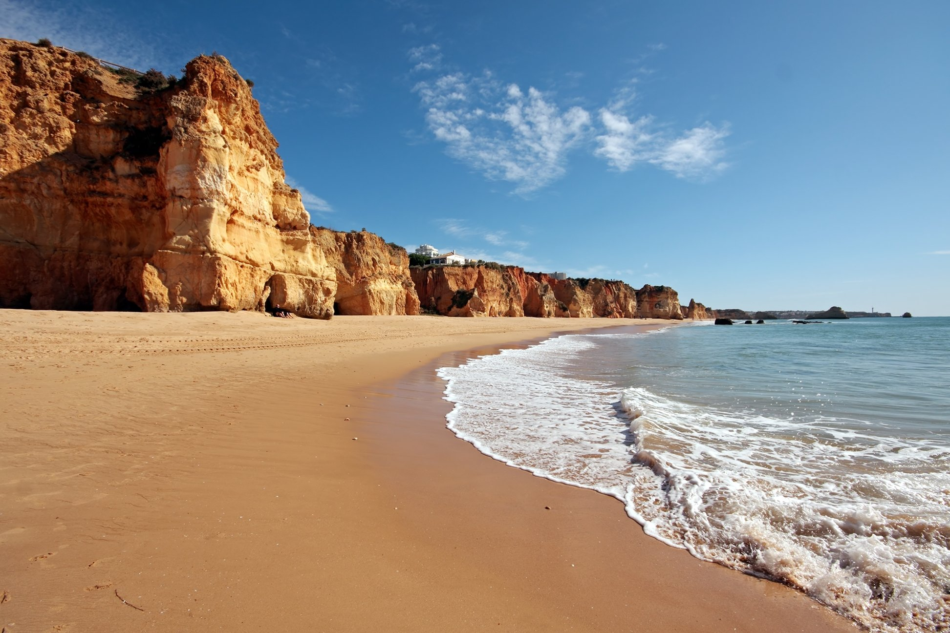 Pass The Beautiful Beach Of Praia Da Rocha On Your Way To Lagos During The South Of Portugal 4 Day Package Tour