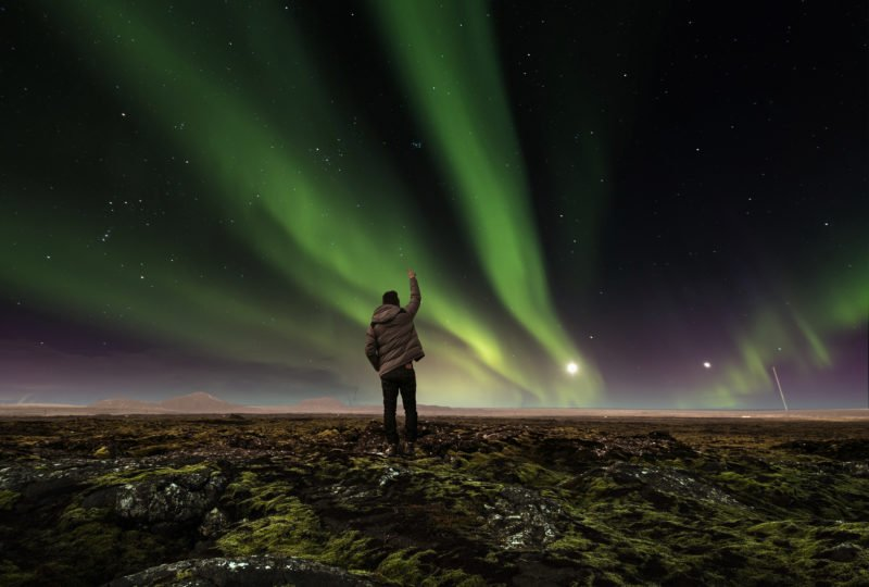 See The Northern Lights Dancing Around The Arctic Sky In Our Blue Lagoon & Northern Lights Tour