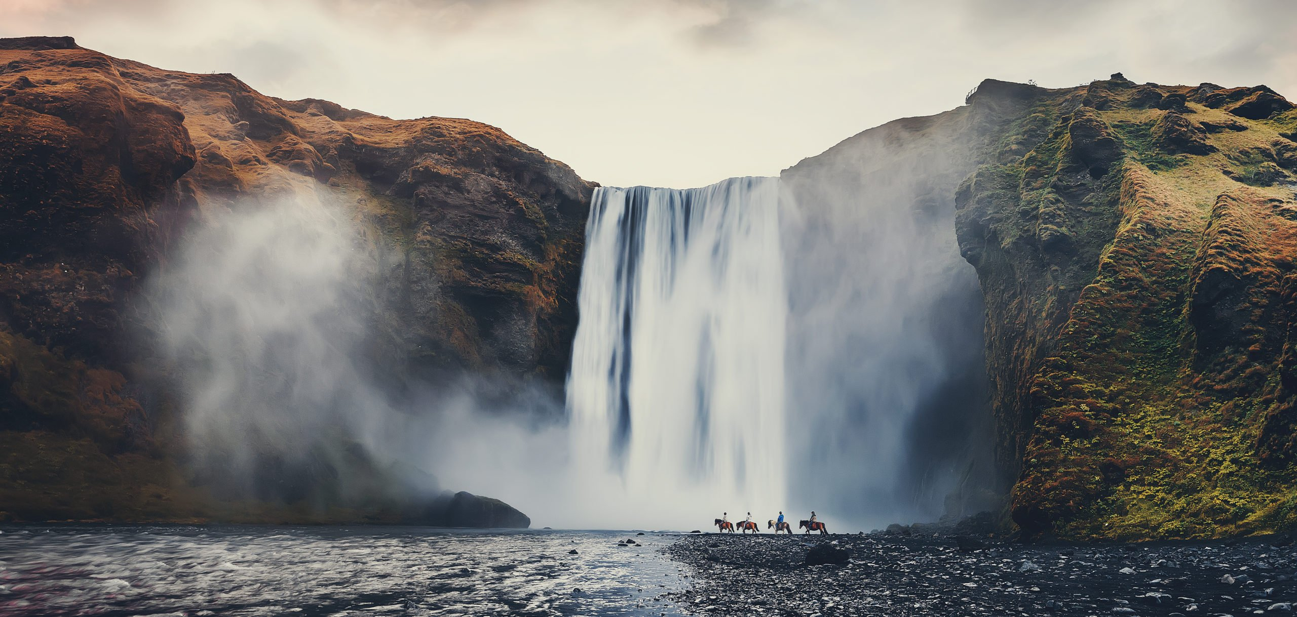See The Famous Skogafoss Waterfall In Our South Coast And Katla Natural Ice Cave Tour