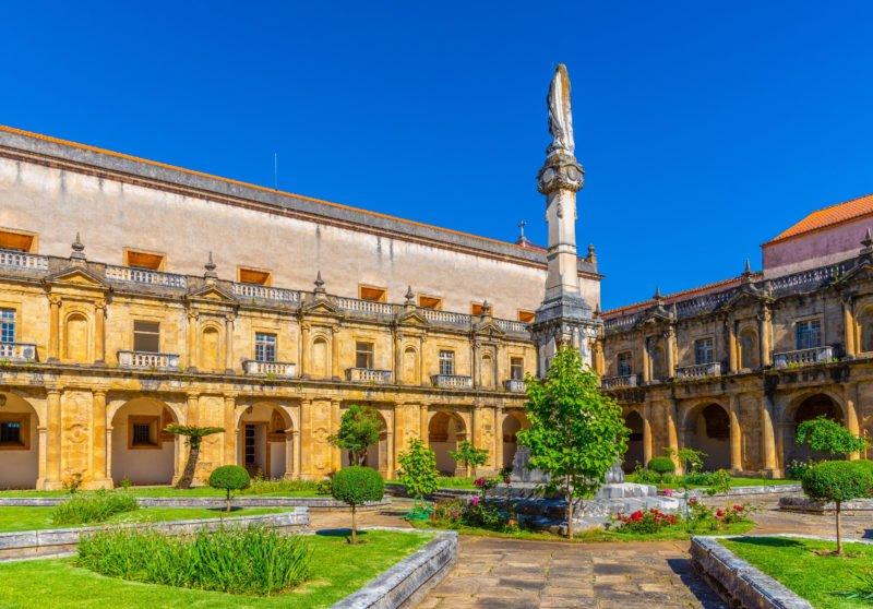 Stop At The St Clara Church In Coimbra