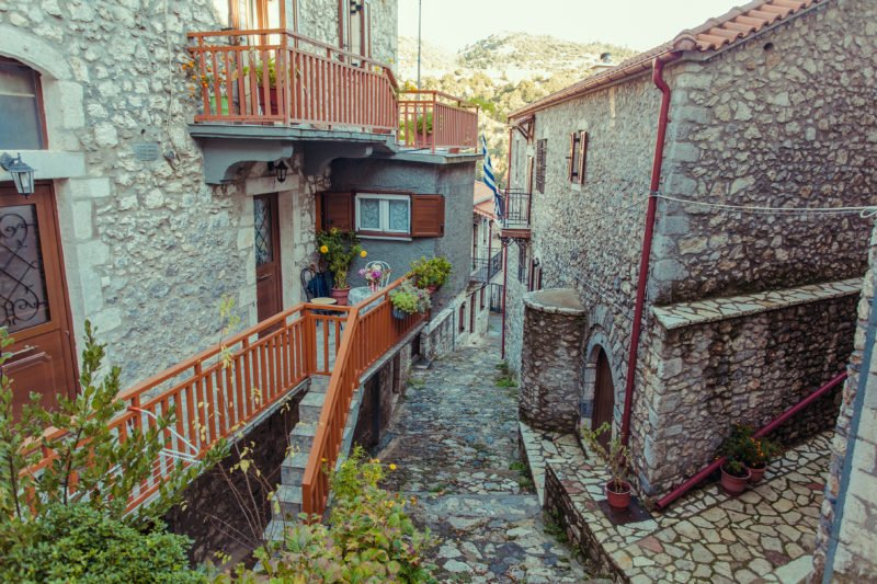 Stroll Through The Streets Of Stemnitsa On The Self- Driving Peloponnese Rafting & Hiking Experience From Athens