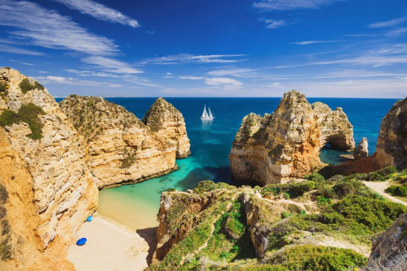 Take A Swim At The Beautiful Algarve Beaches On The Highlights Of Portugal 11 Day Package Tour