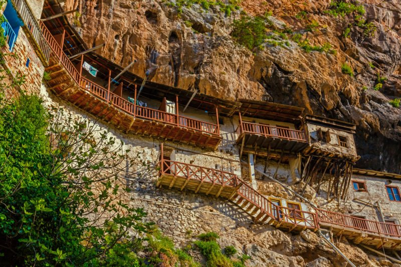 Visit Th Cliff Hanging Monastery Of Prodromos In Lousios Gorge On The Peloponnese Rafting & Hiking Experience From Athens