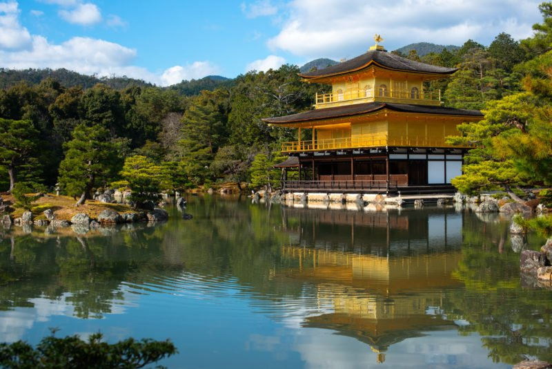 Visit The Famous Golden Pavilion In Kyoto