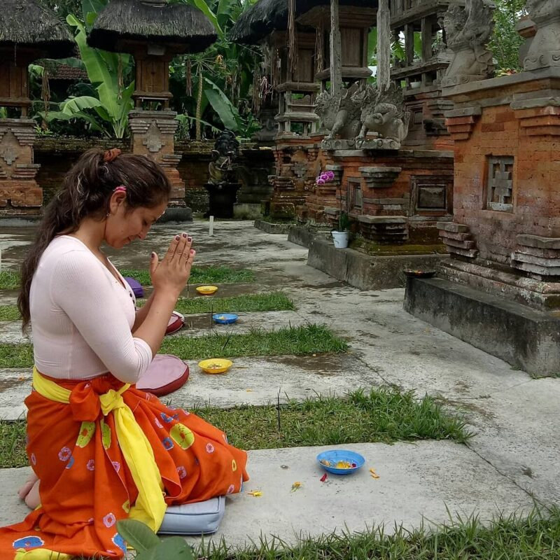 Visit The Holy Water Temple In The Morning On The Balinese Local Homestay Experience In Bresela Village