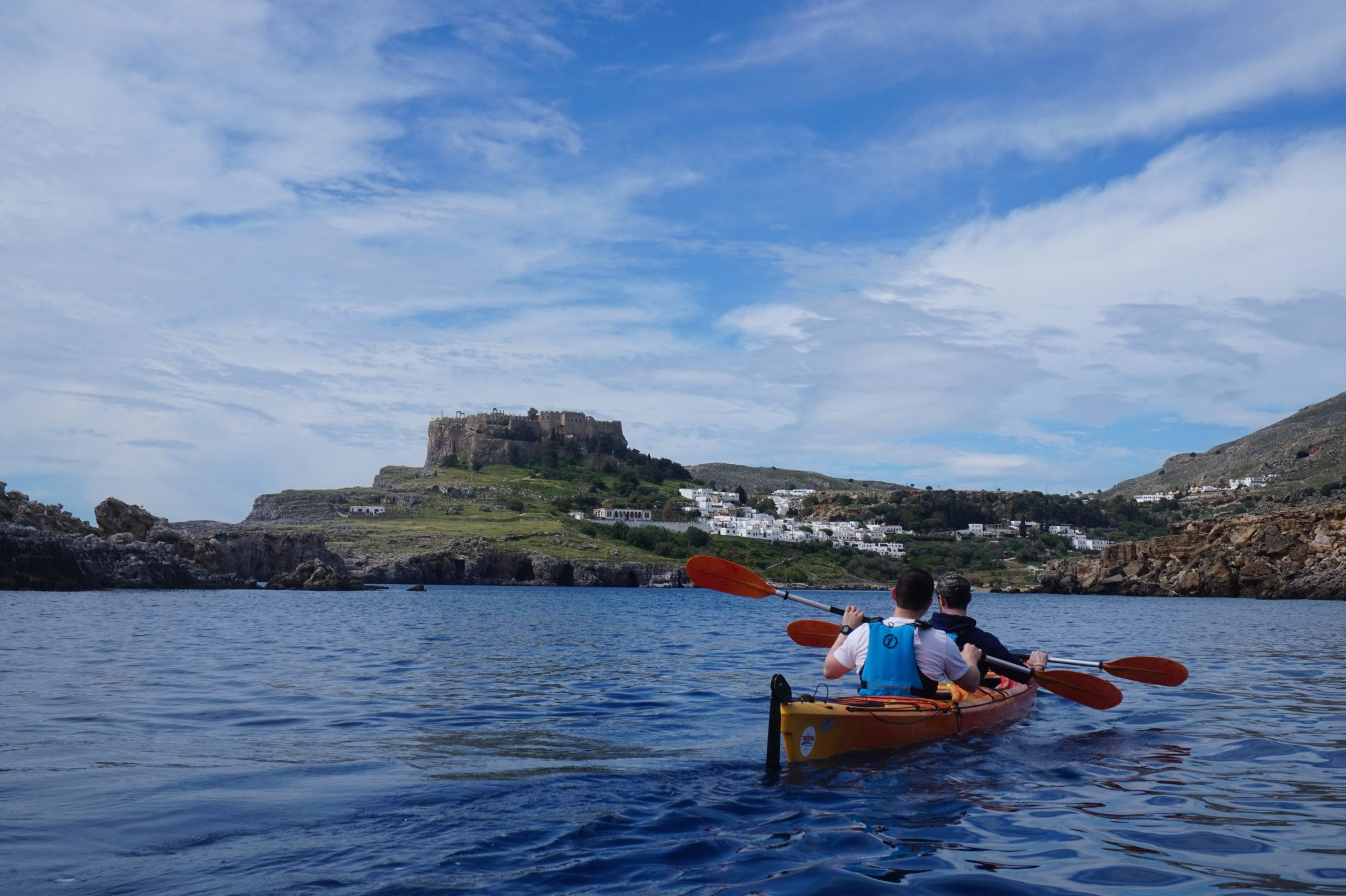 Visit The Town Of Lindos With Its Whitewashed House In Your Sea Kayak Day Tour