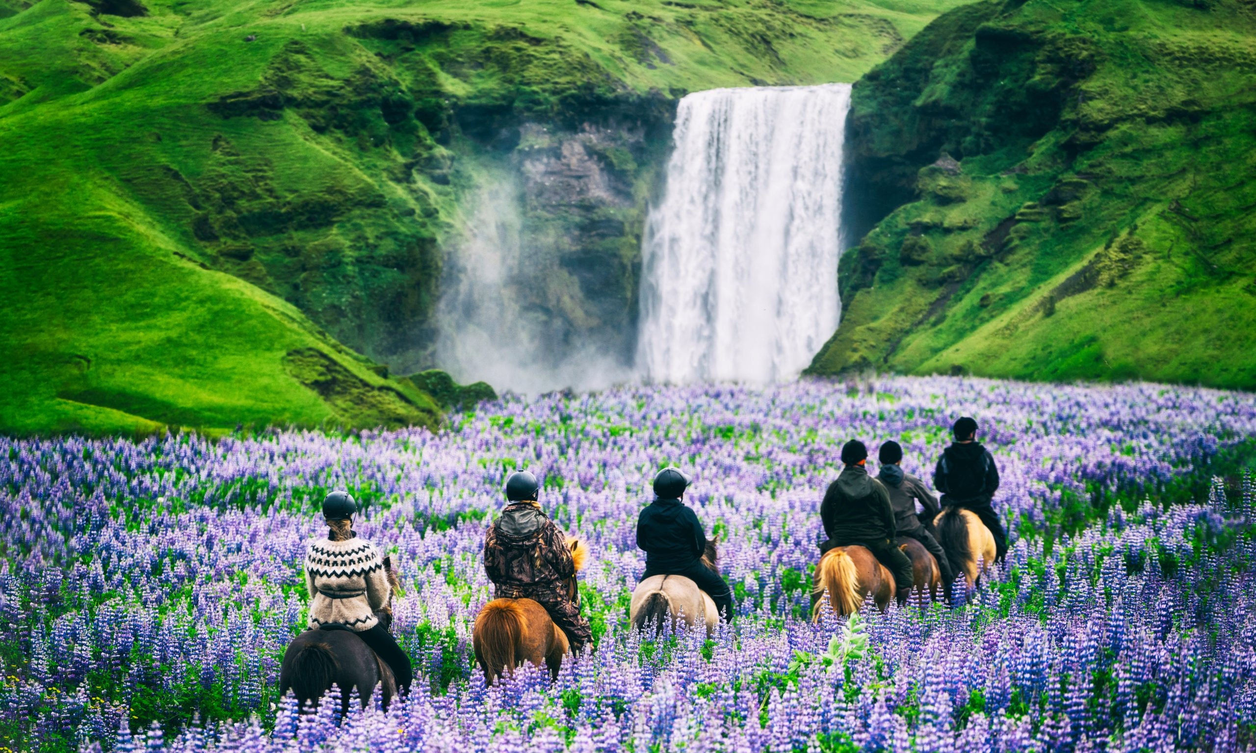 Enjoy Horse Riding At The Majestic Skogafoss Waterfall In Our Golden Circle & Horse Riding Tour