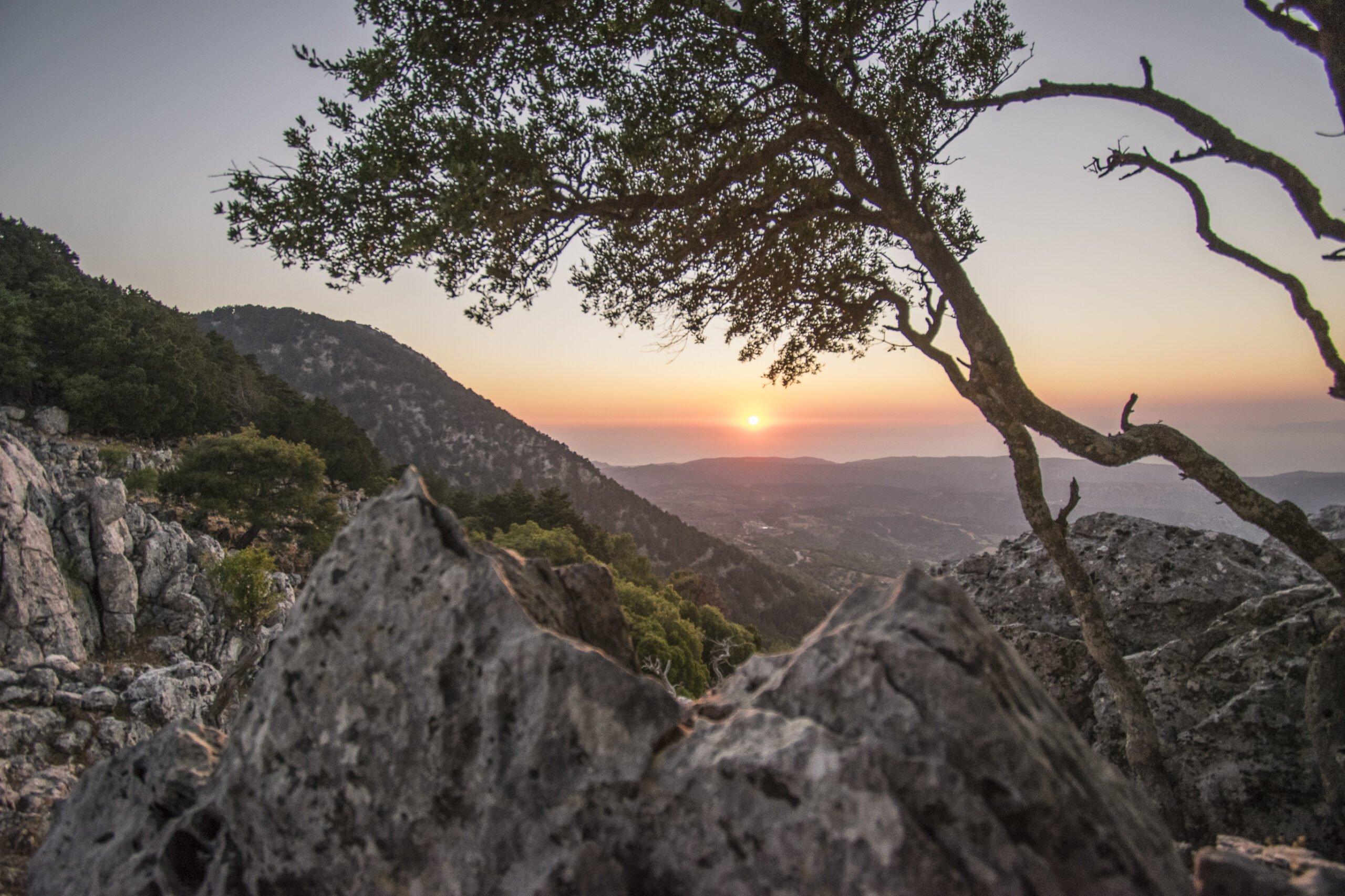 Enjoy The Beautiful Sunsut In Our Profitis Ilias Sunset Hiking Tour