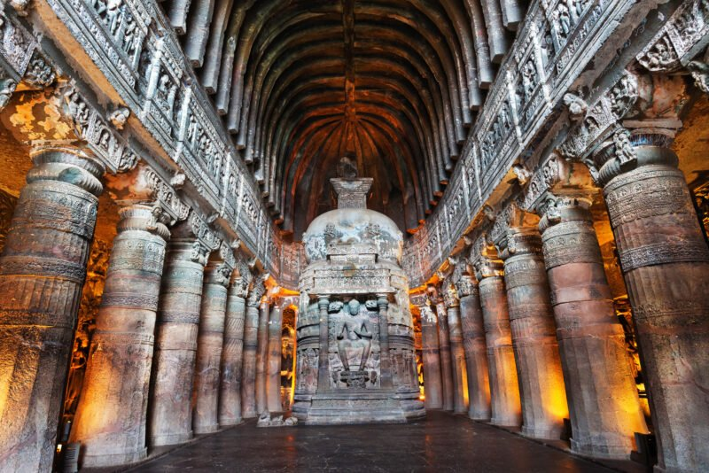 Explore At A Temple In Lonar, Built In Chalukya Architecture Style In Our 6 Days World Heritage Sites Of Ajanta Ellora & Lonar Meteor Mystery Tour