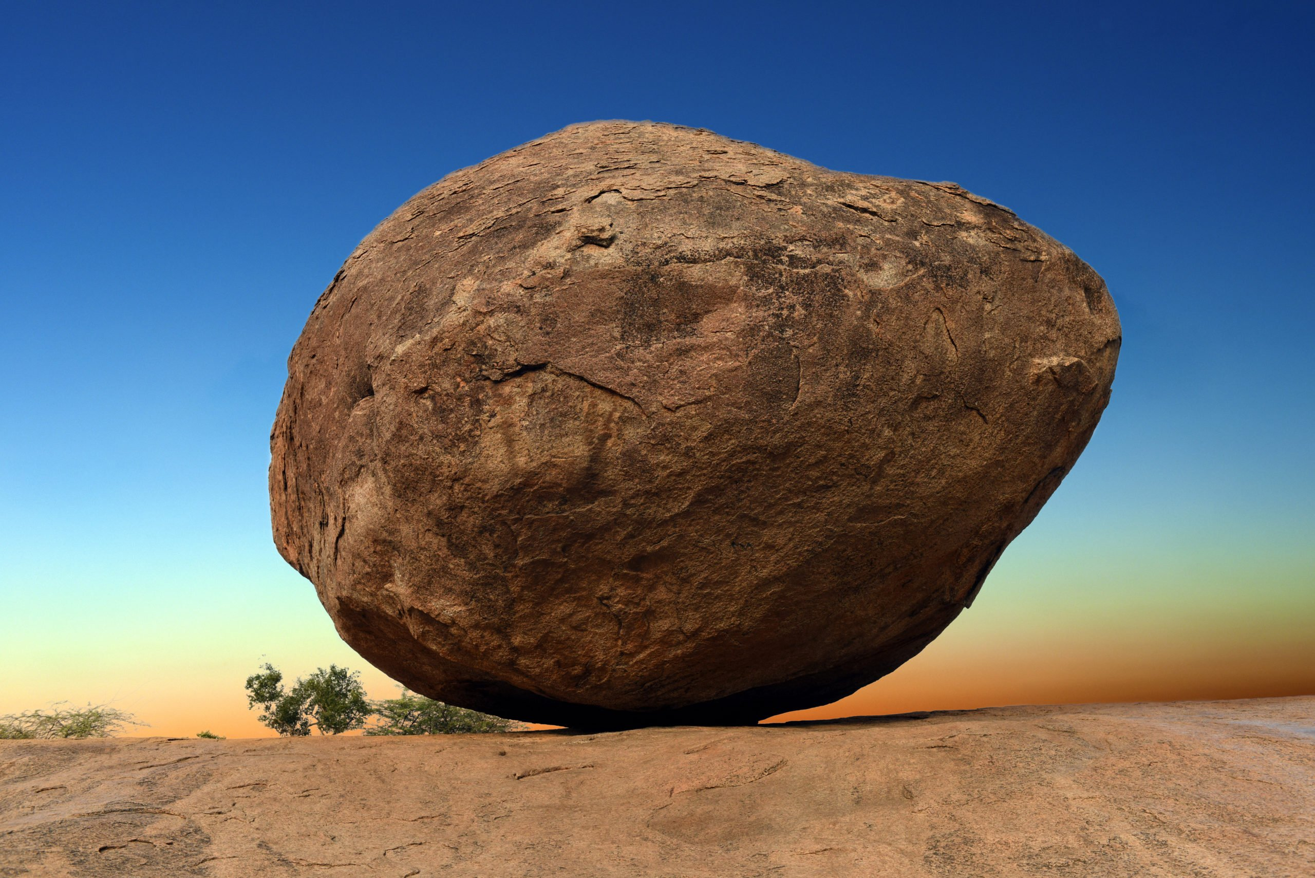 Learn About Gravity Defying Boulder Called Krishna's Butterball In Our World Heritage Site Of Mahabalipuram