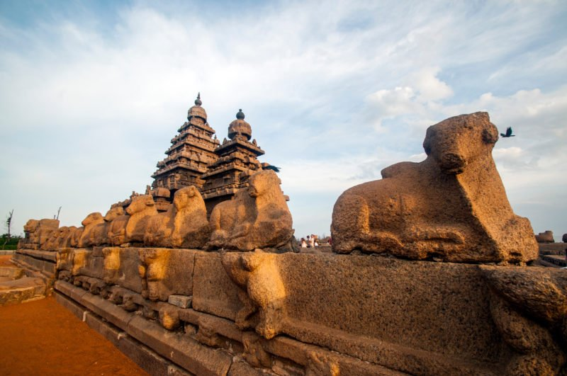 Observe The Magnificent Shore Temple, Which Was One Of The 7 Pagodas As Mentioned By Marco Polo During His Visit In The 11th Century. In Our World Heritage Site Of Mahabalipuram