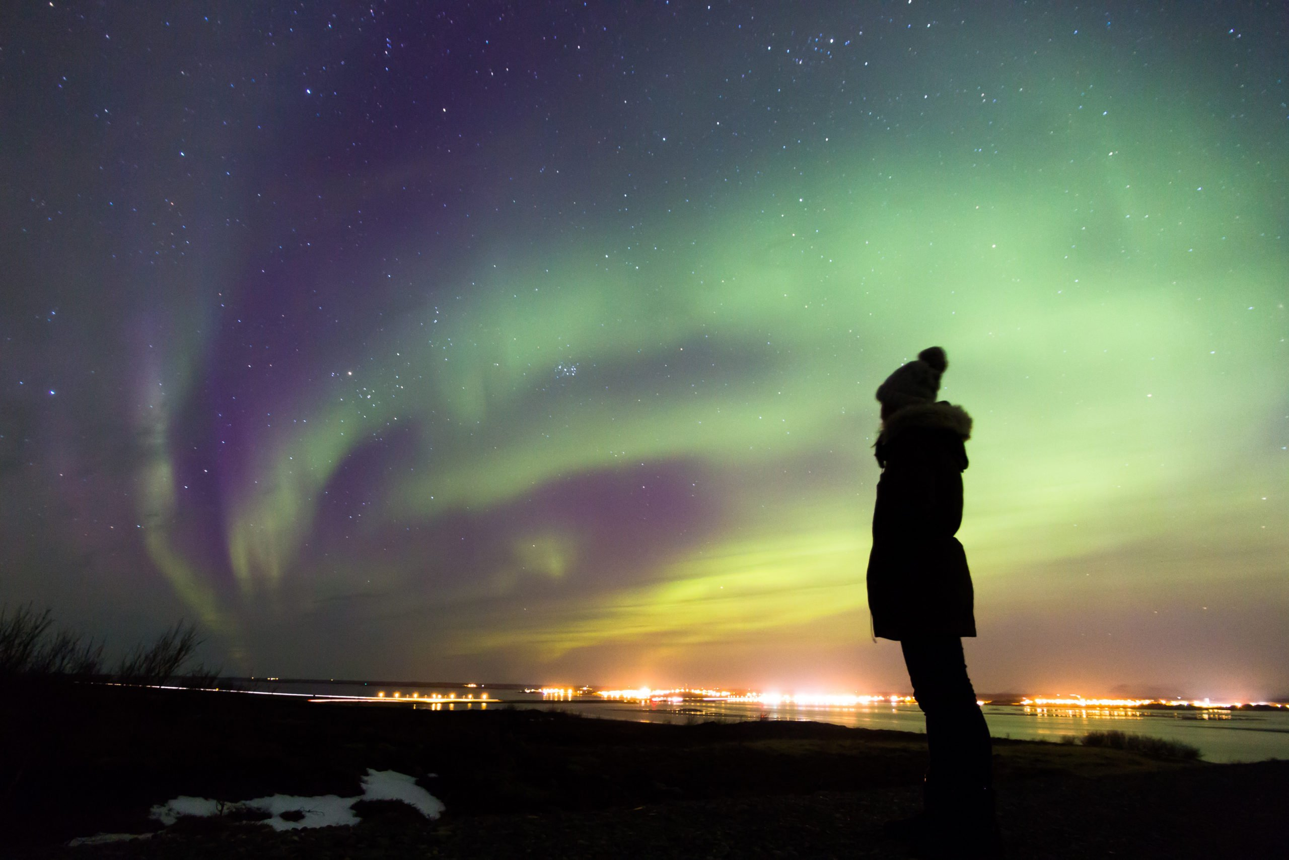 Observe The Night Sky Fulfill With Very Beautiful Northern Light In Our Blue Lagoon & Northern Lights Tour