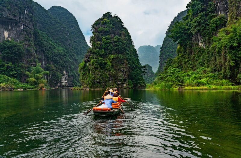 Hop On A Bamboo Boat And Discoverthe Area On The Ninh Binh, Bai Dinh, Dancing Cave & Trang An Tour From Hanoi
