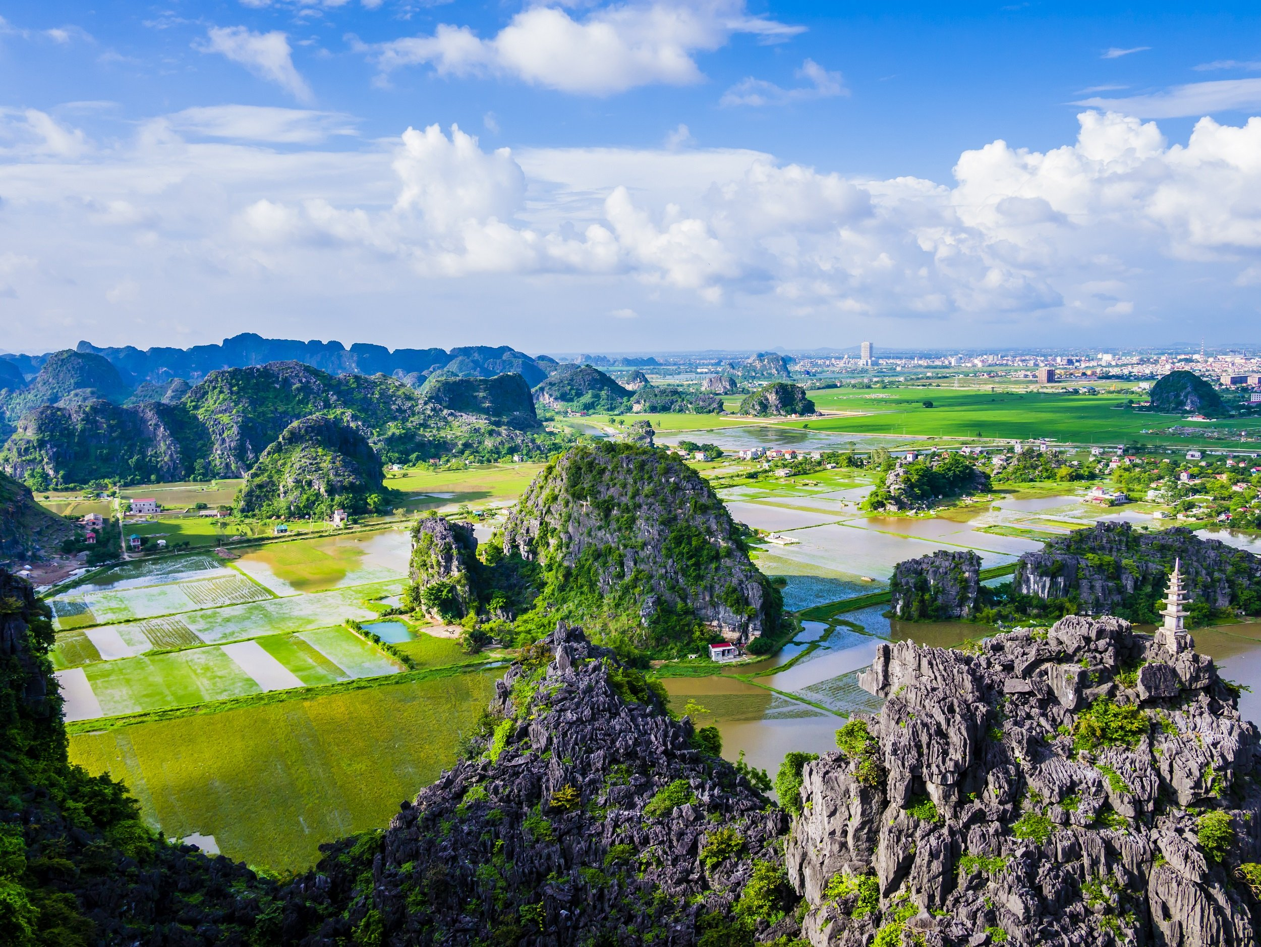 Marvel The Panoramic Views From The Dancing Cave On The On The Ninh Binh, Bai Dinh, Dancing Cave & Trang An Tour From Hanoi