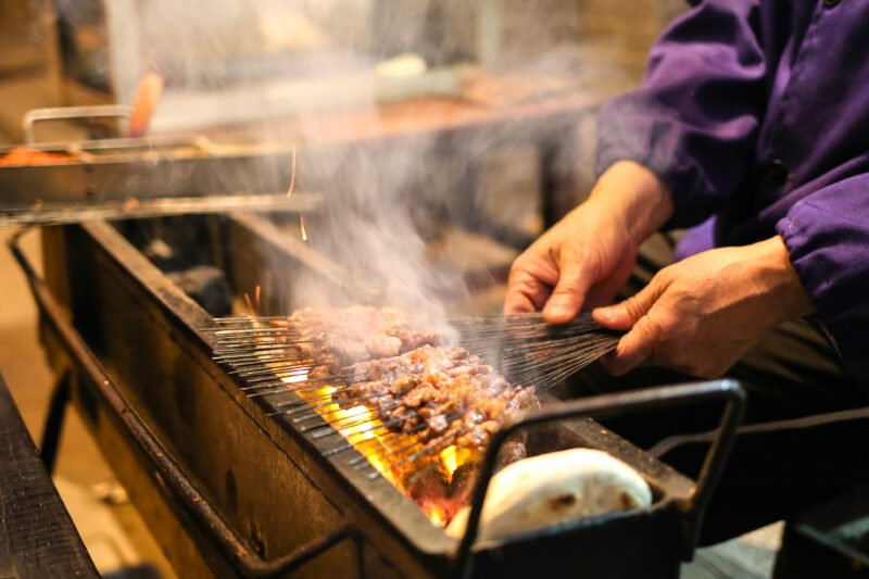 Sit Side-by-side A Local Bbq Master As He Grills Your Skewered Meat In A Quaint Alley In Our Xian Evening Food & Craft Beer Tour