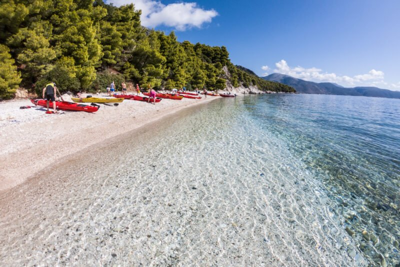 Swim At The Sandy Beaches Of Lefkada On The Lefkada Sea Kayak And Camping Adventure 3 Day Package Tour_89
