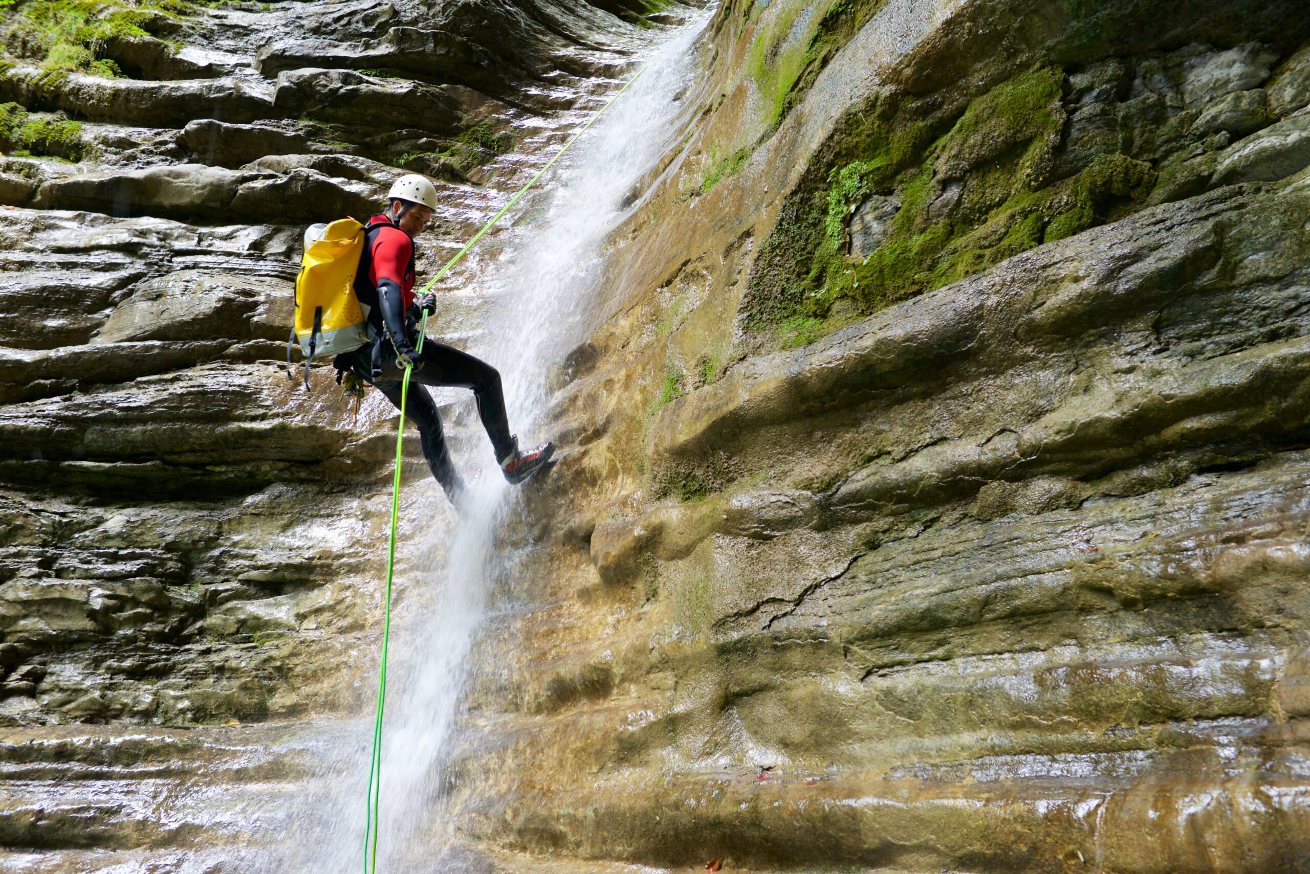 You Will Descend Through Waterfalls, Pools, Vertical Rappels:abseils In Our Somosierra Canyoning Adventure Tour From Madrid