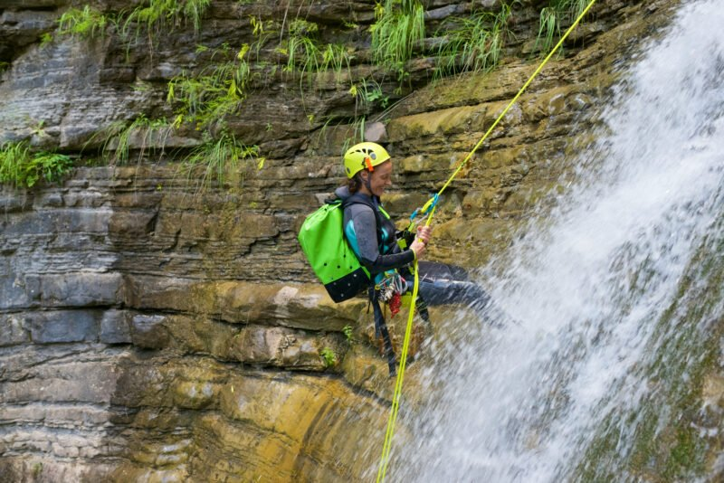 Experience Vertical Rappels:abseils Through 30 Meters Granite Walls And A Fun Slide Of 9 Meters In Our Somosierra Canyoning Adventure Tour From Madrid