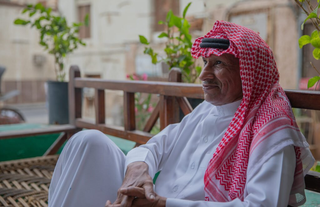 man in traditional clothes saudi arabia
