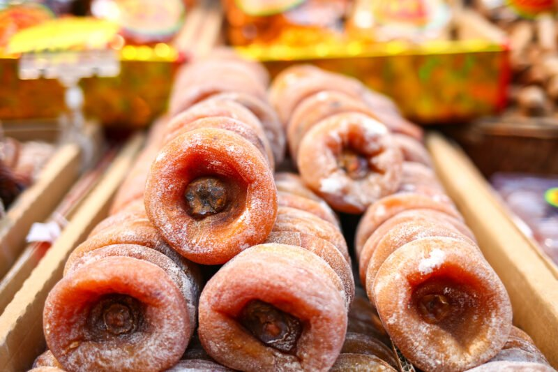Taste Local Fried Persimmon Cakes Xian Morning Food & Market Tour