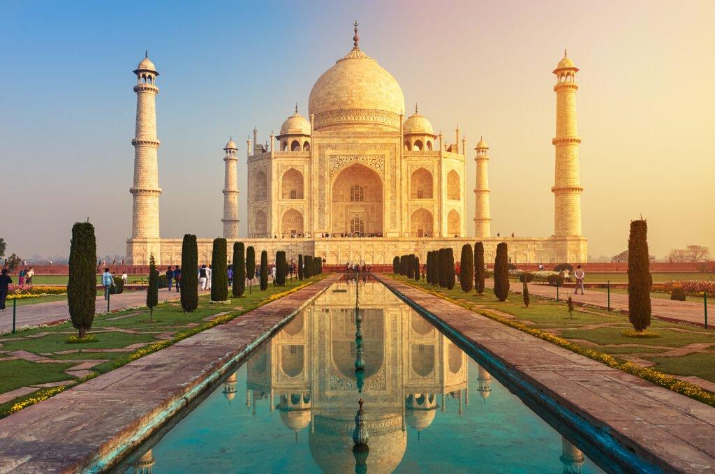 The Taj Mahal in Agra