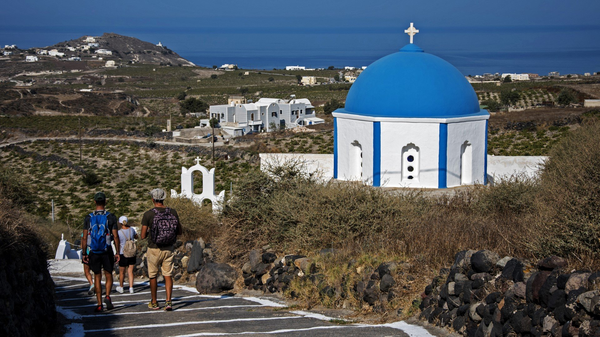 Admire Santorini's Landscape On The Hiking, Snorkeling & Cooking Experience In Santorini_92