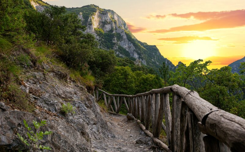 Admire The Beautiful Sunset Over Mt. Olympus When You Reached The Mountain Hut On The Mount Olympus 2 Day Hiking Tour From Litochoro Village
