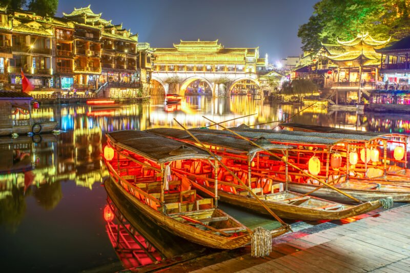 Beautiful Scenery Of Fenghuang Ancient Town In Our Zhangjiajie And Fenghuang 4 Day Package Tour