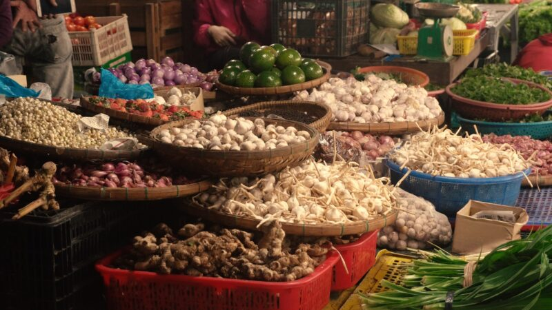 Buy Fresh Ingredients For Your Cooking Class On The Market Of Hue On The Flavors Of Vietnam 12 Day Gastronomical Tour