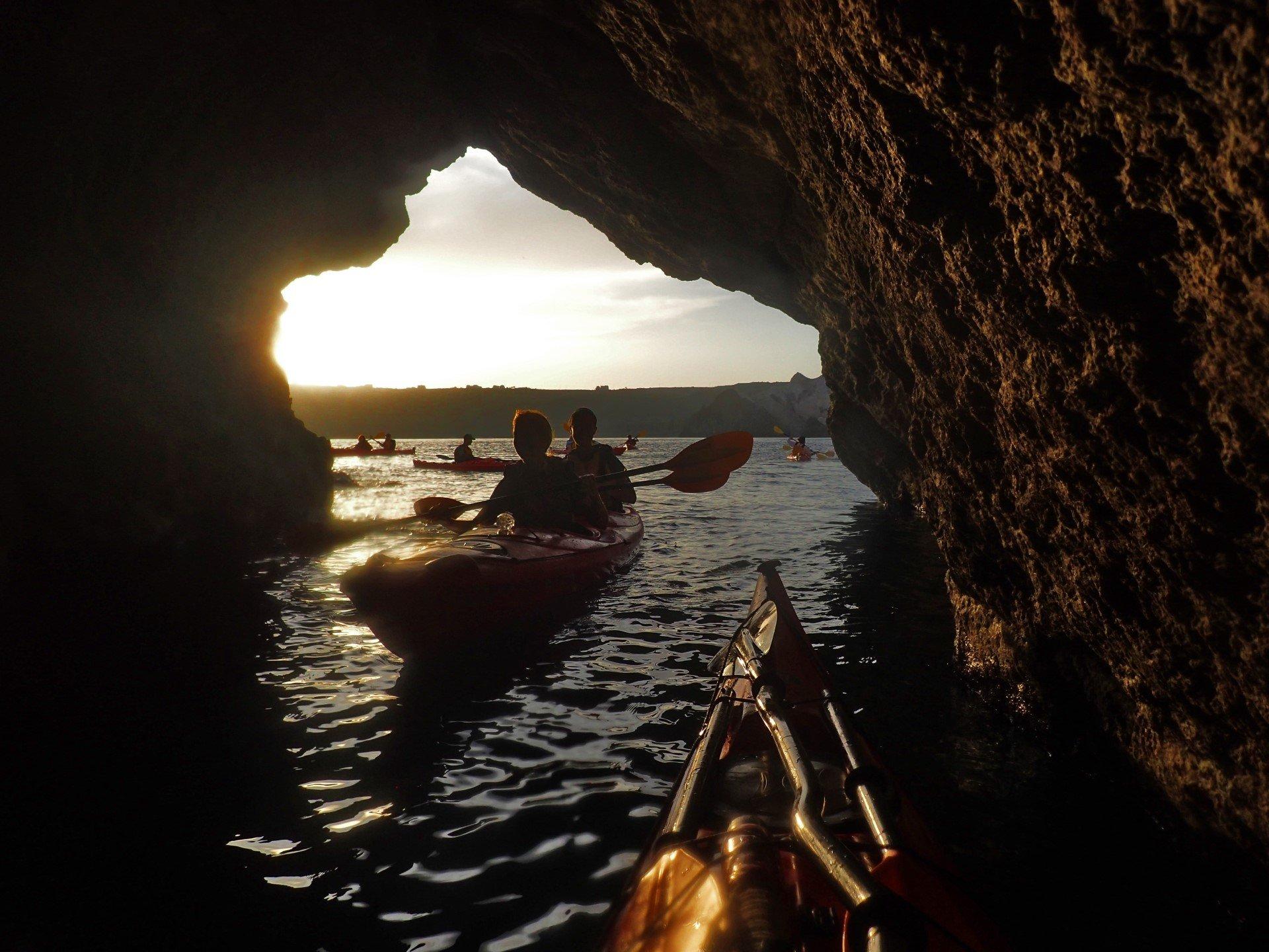 Discover The Sea Caves Near Santorini On The Sunset Sea Kayak & Snorkeling Tour In Santorini_92