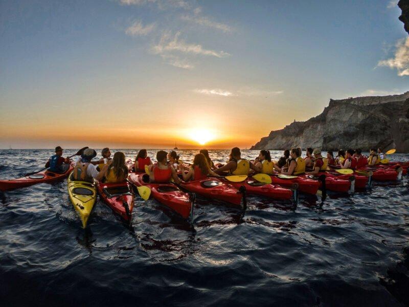 Experience The Turquoise Sea On The Sunset Sea Kayak & Snorkeling Tour In Santorini_92