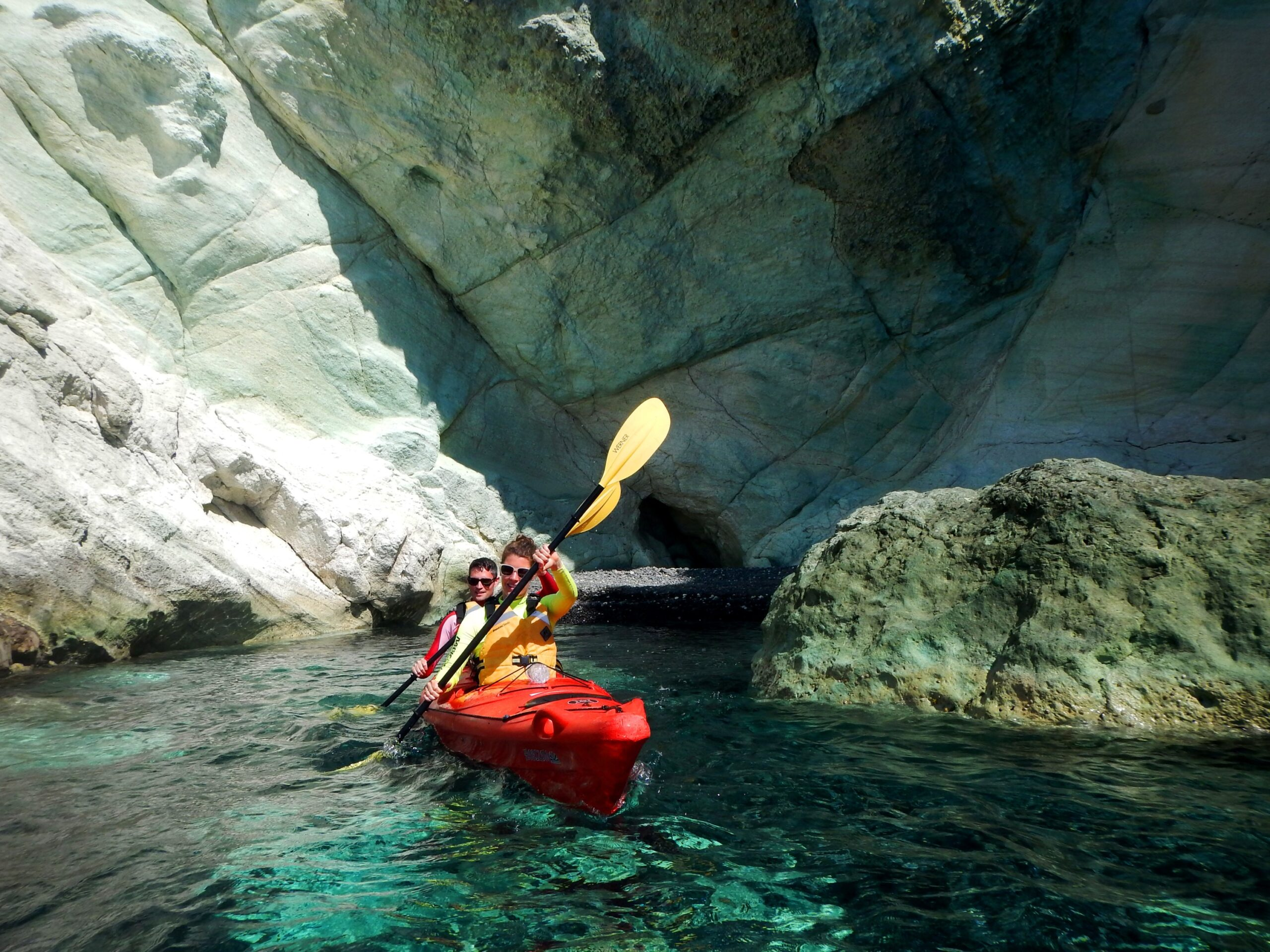 Explore The Famous Sea Caves On Our Morning Sea Kayak & Snorkeling Tour In Santorini_92